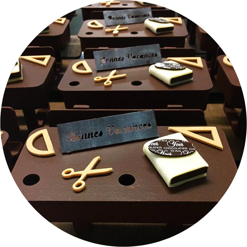Bureau en chocolat