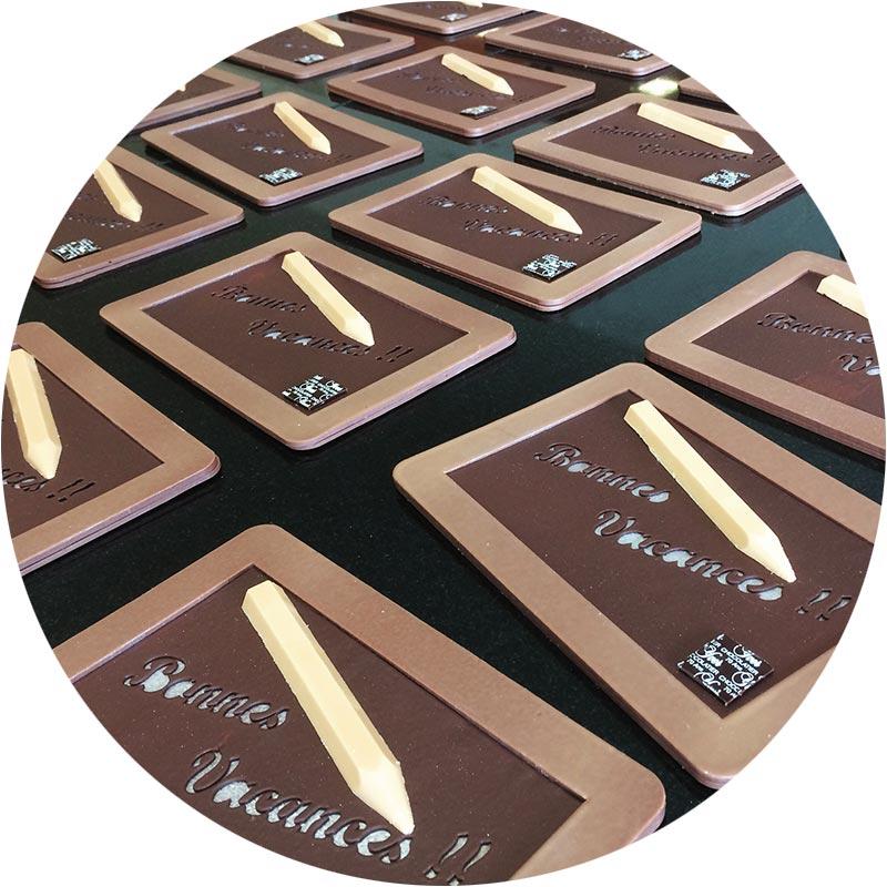 Ardoise en chocolat