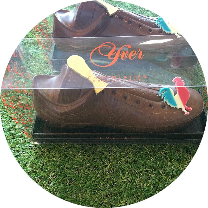 Chaussures en chocolat garnies