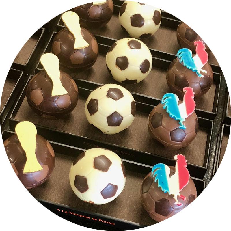 Assortiment 3 Ballons en chocolat